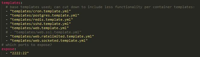 Example YML